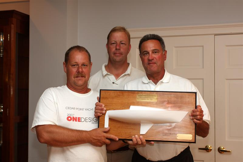 Photo Caption: J/30 Half Hull Trophy presented to Bengt Johannson by Bristol ...